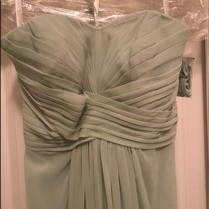Sage Green David's Bridal Strapless Dress